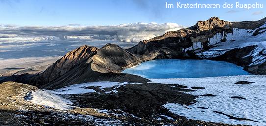 Reisebericht Neuseeland - Ruapehu Vulkan