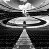 Berlin's Olympia Stadium in Black and White