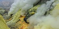 Kawah Ijen, Indonesia, sulphur mine